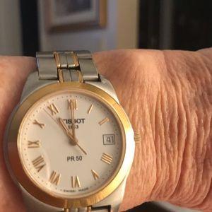 Tissot Accessories - TISSOT 1853 Men's Stainless & Gold Watch